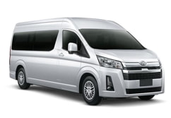 Toyota Hiace van for up to 9 passengers with luggage