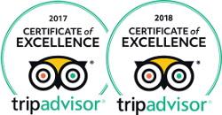 2017 - 2018 Tripadvisor Certificate of Excelelence logo